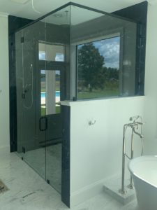 Frameless Hinge Glass Enclosure
